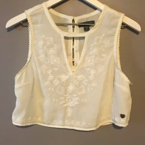 Kendall & Kylie Sheer Crop Top Size Medium